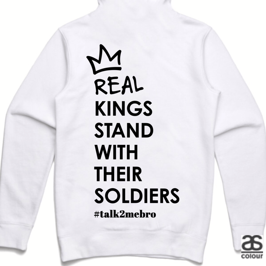 #T2MB Real Kings - Unisex White Hoodie
