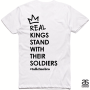 #T2MB Real Kings - Mens White Tee