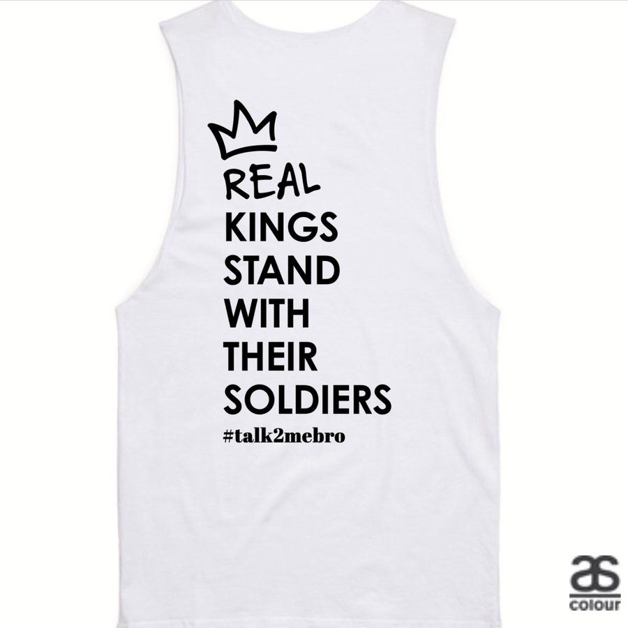 #T2MB Real Kings - Mens White Tank
