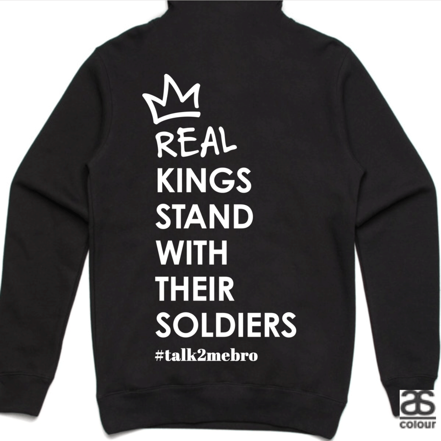 #T2MB Real Kings - Unisex Black Hoodie