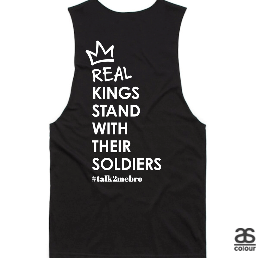 #T2MB Real Kings - Mens Black Tank