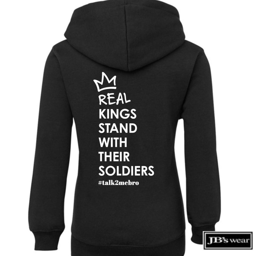 #T2MB Real Kings - Kids Black Hoodie