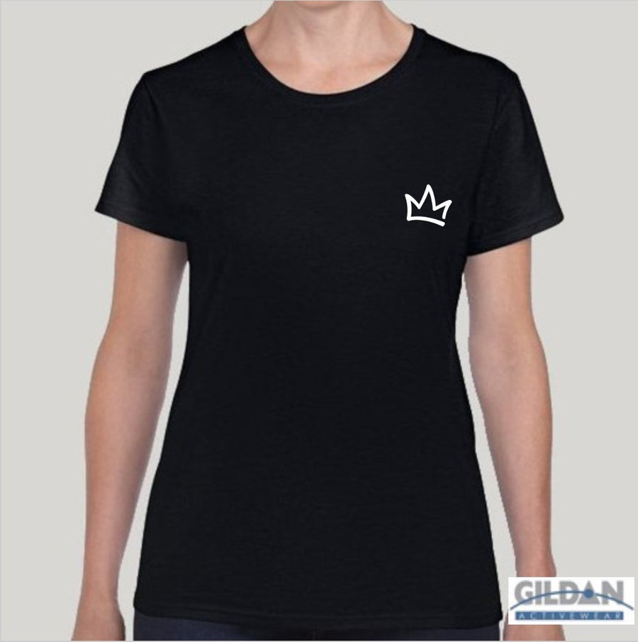 XK Crown (Mini) - Ladies Black Tee