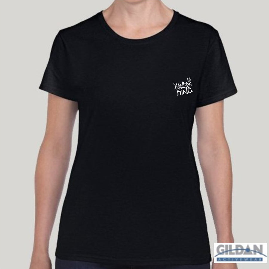 XK Logo (Mini) - Ladies Black Tee