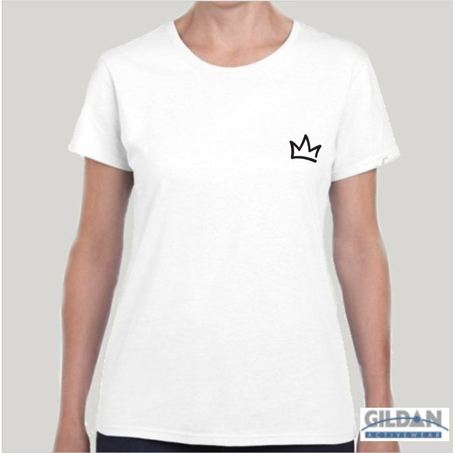 XK Crown (Mini) - Ladies White Tee