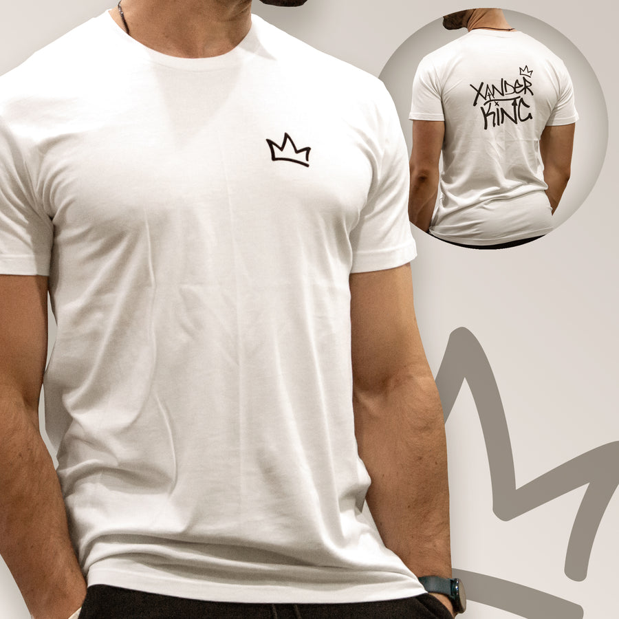 XK Crown (Mini) - Mens White Tee
