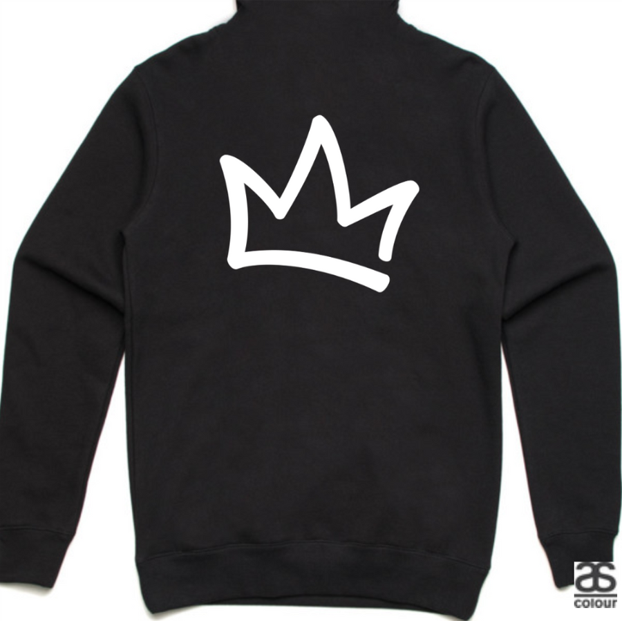 XK Logo (Front) Crown (Back) - Unisex Black Hoodie