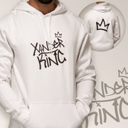 XK Logo (Front) Crown (Back) - Unisex White Hoodie