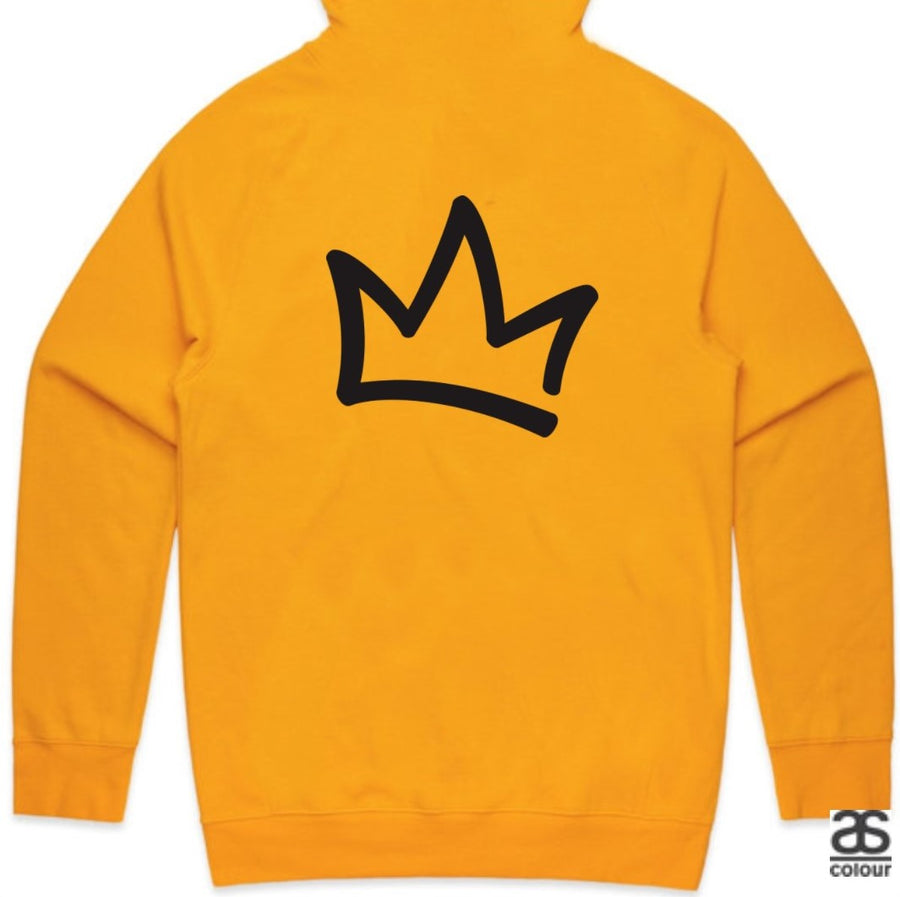 XK Logo (Front) Crown (Back) - Unisex Gold Hoodie