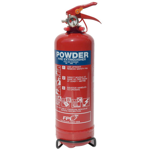 Fire Extinguisher 1Kg Dry Powder -  Chevron Kit from the Chevron Warehouse