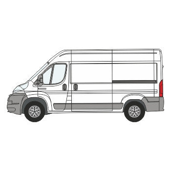 Citroen Relay Full Chevron Kit with Window cut-outs (2006-) (Medium Roof) -  Chevron Kit from the Chevron Warehouse