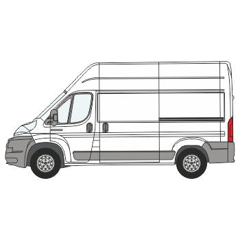 Fiat Ducato Full Chevron Kit with Window cut-outs (2006-) (High Roof) -  Chevron Kit from the Chevron Warehouse