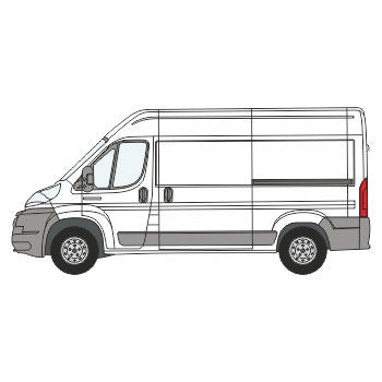 Fiat Ducato Full Chevron Kit with Window cut-outs (2006-) (Medium Roof) -  Chevron Kit from the Chevron Warehouse