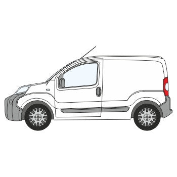 Fiat Fiorino Full Chevron Kit with Window cut-outs (2008-) -  Chevron Kit from the Chevron Warehouse