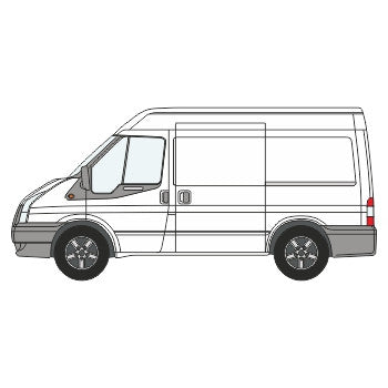 Ford Transit Full Chevron Kit with Window cut-outs ( 2006 -  2014) (Medium Roof) -  Chevron Kit from the Chevron Warehouse