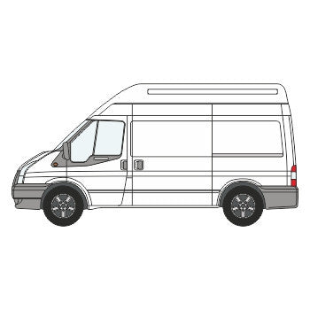 Ford Transit Full Chevron Kit ( 2006 -  2014) (High Roof) with 200mm Chevrons -  Chevron Kit from the Chevron Warehouse