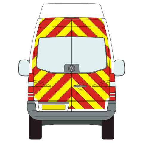 VW Crafter Full Chevron Kit with Window cut-outs (2006-) (High / Super High Roof) -  Chevron Kit from the Chevron Warehouse
