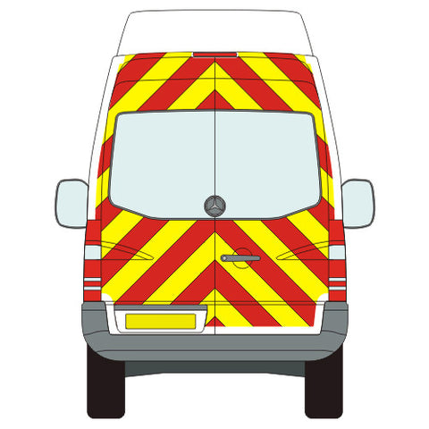 Mercedes-Benz Sprinter Full Chevron Kit with Window cut-outs (2006-) (Medium / High Roof) -  Chevron Kit from the Chevron Warehouse