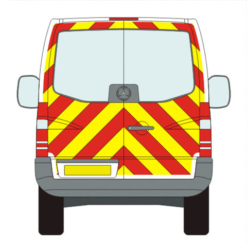 Mercedes-Benz Sprinter Full Chevron Kit with Window cut-outs (2006-) (Low Roof) -  Chevron Kit from the Chevron Warehouse