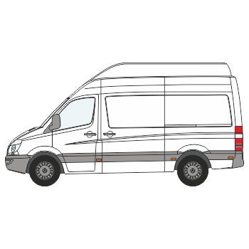 Mercedes-Benz Sprinter Full Chevron Kit with Window cut-outs (2006-) (High Roof) -  Chevron Kit from the Chevron Warehouse