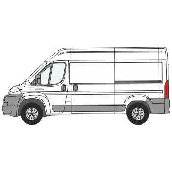 Peugeot Boxer Full Chevron Kit with Window cut-outs (2006-) (Medium Roof) -  Chevron Kit from the Chevron Warehouse