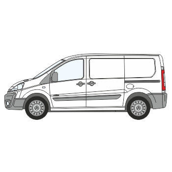 Peugeot Expert Full Chevron Kit with Window cut-outs (2007-) -  Chevron Kit from the Chevron Warehouse
