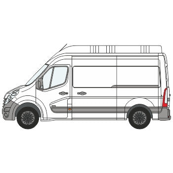 Renault Master Full Chevron Kit (2010-) (High Roof) -  Chevron Kit from the Chevron Warehouse