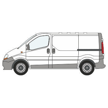 Renault Trafic Full Chevron Kit with Window cut-outs (2001-) (Low Roof) -  Chevron Kit from the Chevron Warehouse