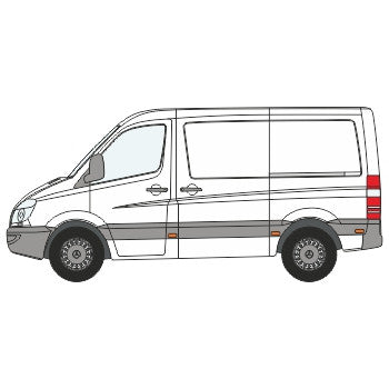 VW Crafter Full Chevron Kit with Window cut-outs (2006-) (Low Roof) -  Chevron Kit from the Chevron Warehouse