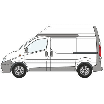 Renault Trafic Full Chevron Kit with Window cut-outs (2001-) (High Roof) -  Chevron Kit from the Chevron Warehouse