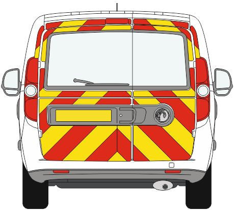 Vauxhall Combo Full Chevron Kit with Window cut-outs (2012-Present) -  Chevron Kit from the Chevron Warehouse