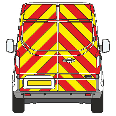 Ford Transit Custom Full Chevron Kit (2013-) (High roof) -  Chevron Kit from the Chevron Warehouse