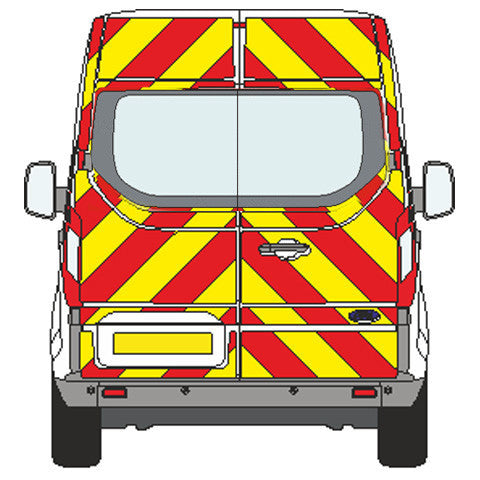 Ford Transit Custom no windows Chevron Kit (2013-) (High roof) -  Chevron Kit from the Chevron Warehouse