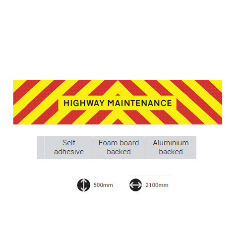 Highway Maintenance LGV Board 2100mm x 500mm -  Chevron Kit from the Chevron Warehouse