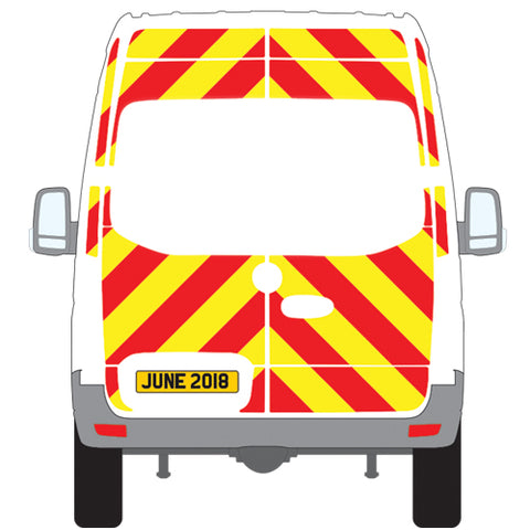 Mercedes-Benz Sprinter No Windows Chevron Kit (2018 - Onwards) (High Roof) -  Chevron Kit from the Chevron Warehouse