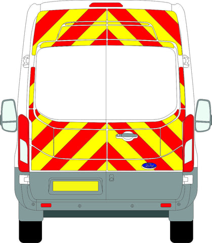 Ford Transit Full Chevron Kit with Window cut-outs (2014 - ONWARDS) (High Roof) -  Chevron Kit from the Chevron Warehouse