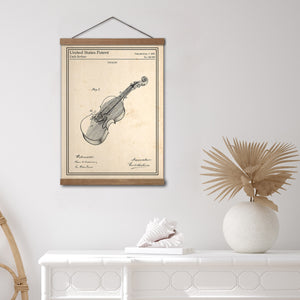 Affiche brevet technique violon