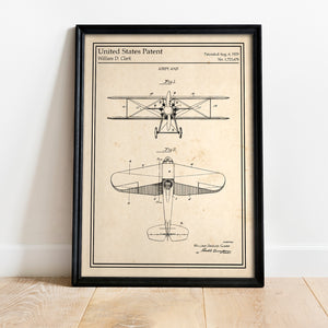 Poster rétro aviation expedition William Clark