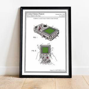 Poster original retro geek gameboy