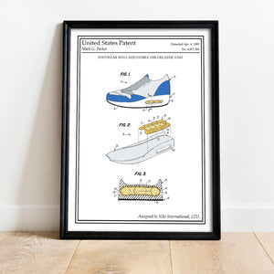 Poster original retro nike air max