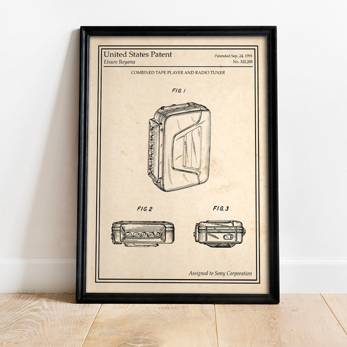 Poster original retro Walkman