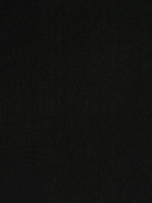 black polyester linen fabric used for upholstery and cushions