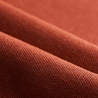 red burgundy linen performance fabric used for upholstery and cushions