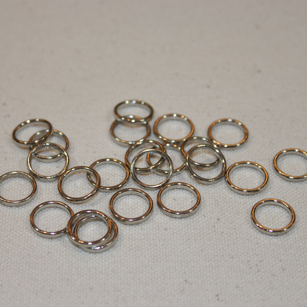 Roman shade rings 50 count- silver/nickel