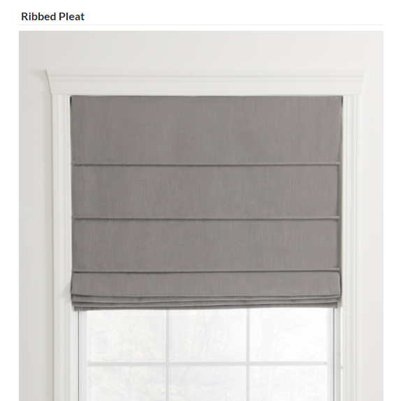 Custom finished ribbed roman shade for your home window