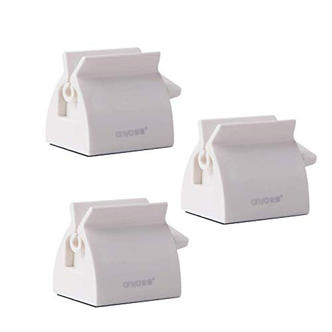 Sally in Colorado - AWESOME for keeping E6000 tubes neat. White Large Rolling Tube Toothpaste Squeezer Holder Stand -3pcs