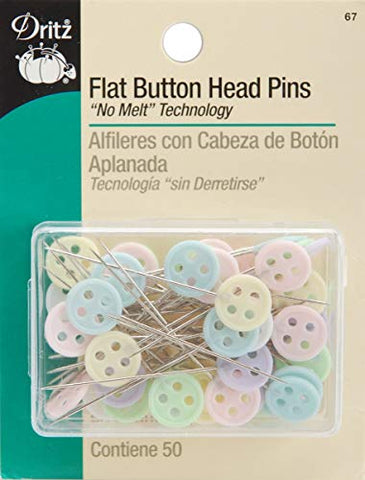 Sally: MY FAVORITE PINS!!!  Dritz 67 Flat Head Pins, Button, 1-3/4-Inch (50-Count)