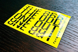"Sticker Set ""The Odd One Out"""