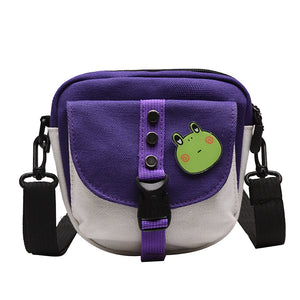 Crossbody Canvas Badge Bag