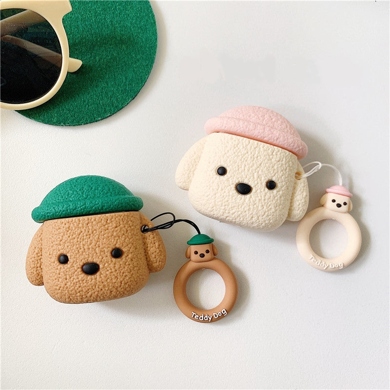 Puppy AirPods Cover Case With Finger Ring Strap